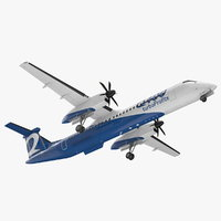 3D model bombardier q400 nextgen rigged