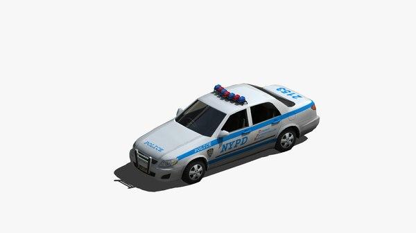 police cruiser 3D model