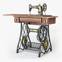 3D model 1907 s singer sewing