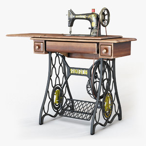 3D model 1907 s singer sewing