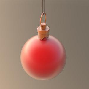 christmas ornament ball red 3D model