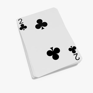 poker playing cards 3D model