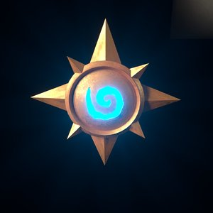 3D model hearthstone emblem