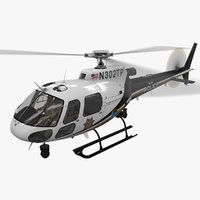 helicopter as-350 tulsa police model