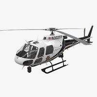 3D helicopter as-350 tulsa police