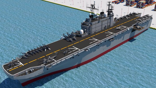 3D model aircraft carrier