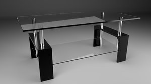 3D tabel glass model