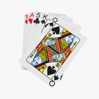 stack playing cards model
