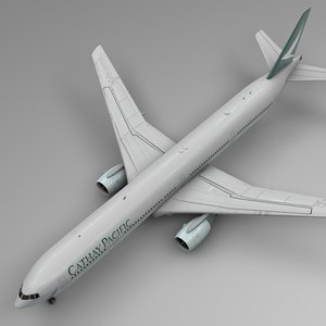 3D cathay pacific boeing 777-300er