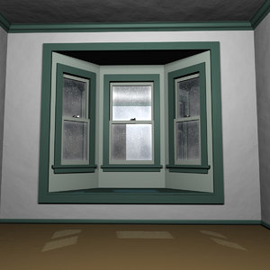 3D rain bay window