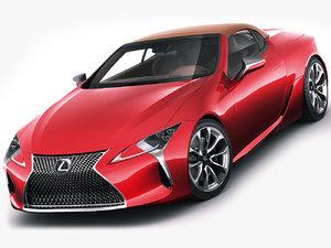 3D lexus lc lc500 model