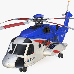 sikorsky s-92 civil helicopter chopper 3D