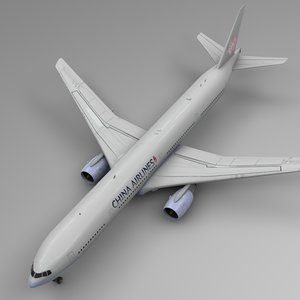 3D model china airlines boeing 777-300er