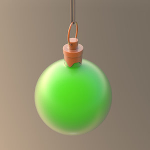 christmas ornament ball green model