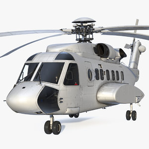 civil helicopter generic copters 3D model