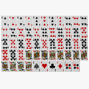 deck playing cards 3D model