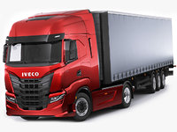 Iveco S-Way 2020 with trailer