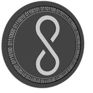 3D cosmo coin black