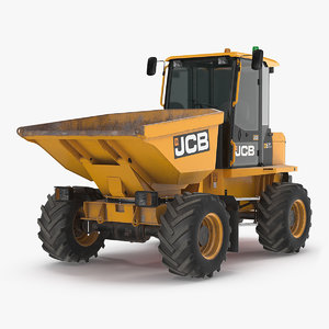 6t-1 cabbed site dumper 3D model