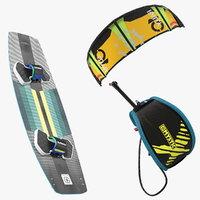 slingshot kiteboarding set boarding 3D model