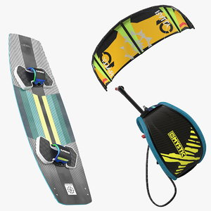 slingshot kiteboarding set boarding 3D model