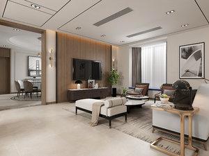 3D livingroom diningroom