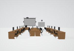 3D computer tables projectors model