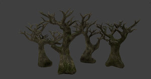 3D pbr tree leaves model