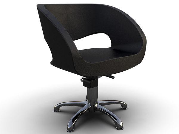 3D model woman barber chair