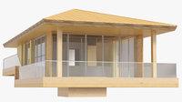 Bungalow wooden bamboo beach build