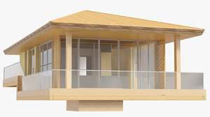 3D model small beach bungalow house