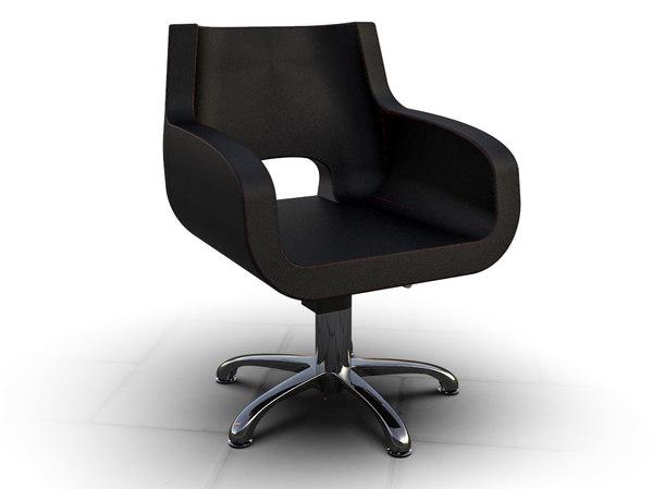 3D woman barber chair model
