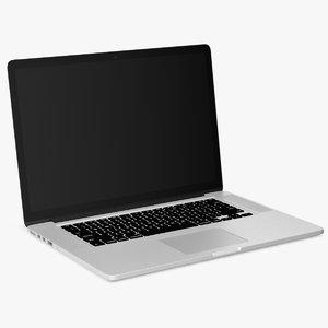 ultraportable silver laptop 3D model