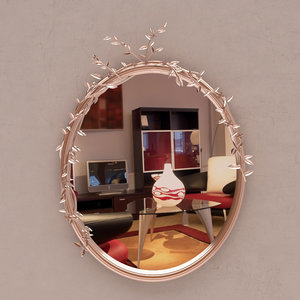 3D ornate mirror model