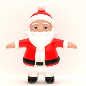 cartoon santa claus 3D model