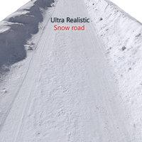 realistic snow road 3D model