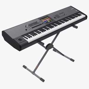 3D synth keyboard stand