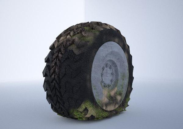 tire flat 3D