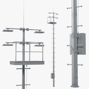 lighting mast 3D model