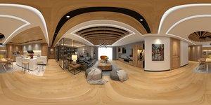 panoramic livingroom 3D model