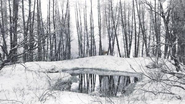 winter lake 3D model