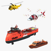 3D model air sea rescue