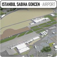 3D sabiha gokcen international airport model