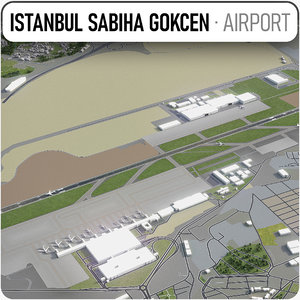 3D sabiha gokcen international airport model