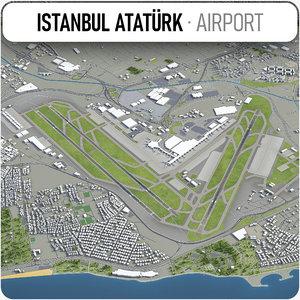 3D istanbul ataturk airport -
