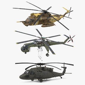 3D sikorsky military helicopters 2