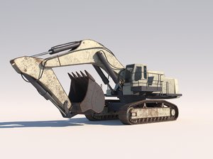 3D model excavator liebherr 984