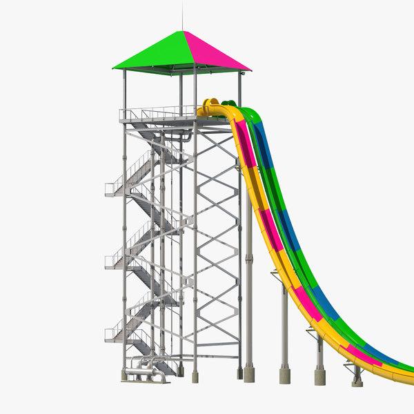 freefall water slide model