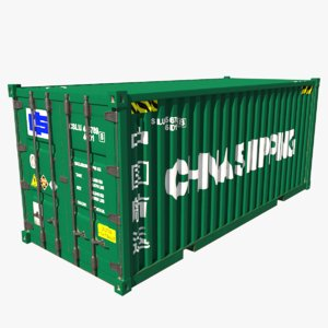 3D shipping container china