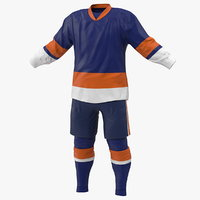 3D model hockey clothes blue